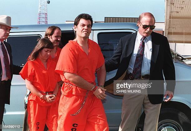 Branch Davidian members Kathryn Schroeder, Brad Branch and Kevin Whitecliff shown in a file photo dated 01 April 1993 being escorted by U.S. Marshal...