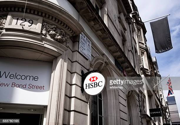 hsbc branch in new bond street, london - hsbc stock pictures, royalty-free photos & images