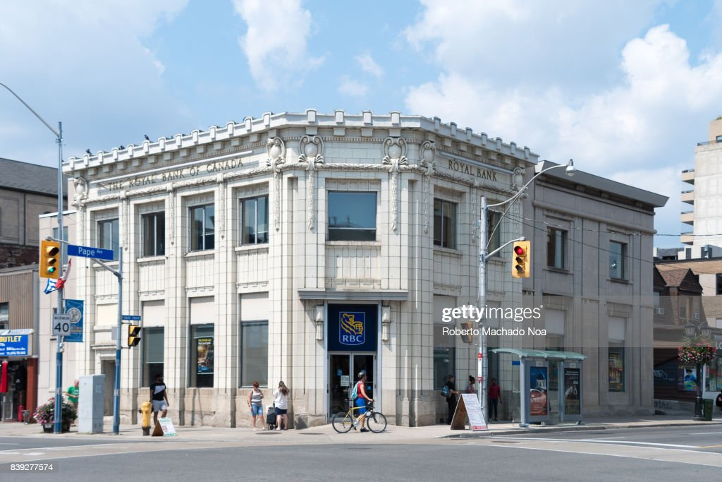 RBC branch in old vintage building at Danforth and Pape