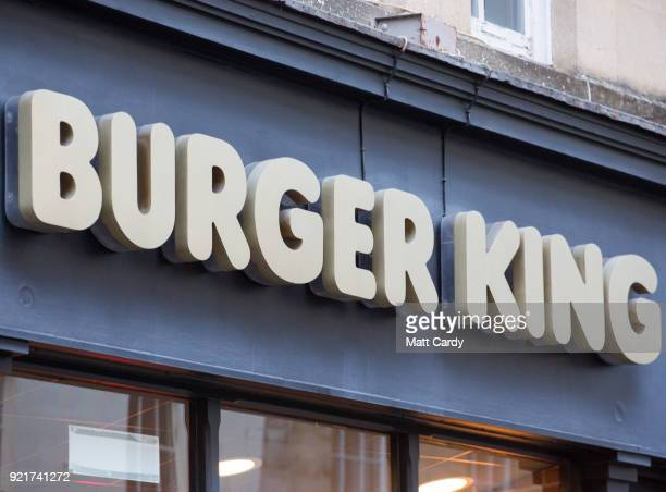 A branch of Burger King is pictured on February 19 2018 in Bath England The number of takeaway restaurants has increased significantly in the last...