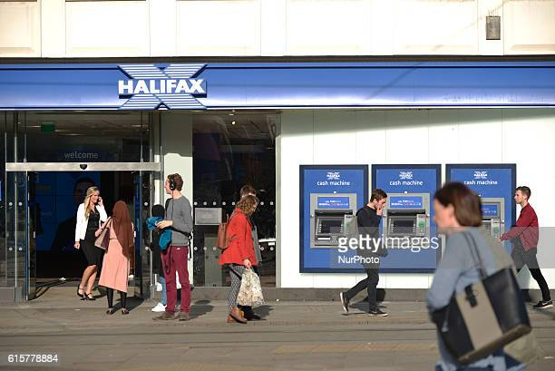 A branch of Halifax a provider of mortgages for people purchasing property trades on October 19 2016 in Manchester England The United Kingdom's...