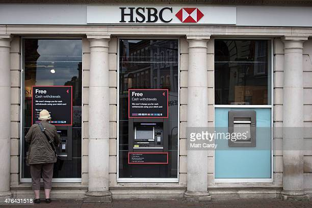 Branch of HSBC is seen on the high street in Salisbury city centre on June 9, 2015 in Wiltshire, England. Europe's biggest bank is to cut thousands...