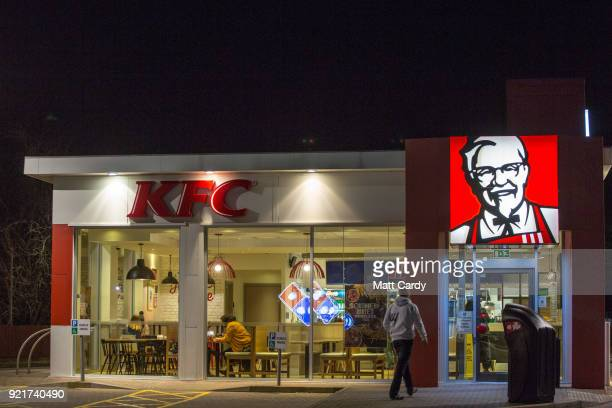A branch of KFC is pictured on February 20 2018 in Bristol England The number of takeaway restaurants has increased significantly in the last few...
