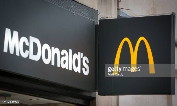 A branch of McDonald's is pictured on February 19 2018 in Bath England The number of takeaway restaurants has increased significantly in the last few...