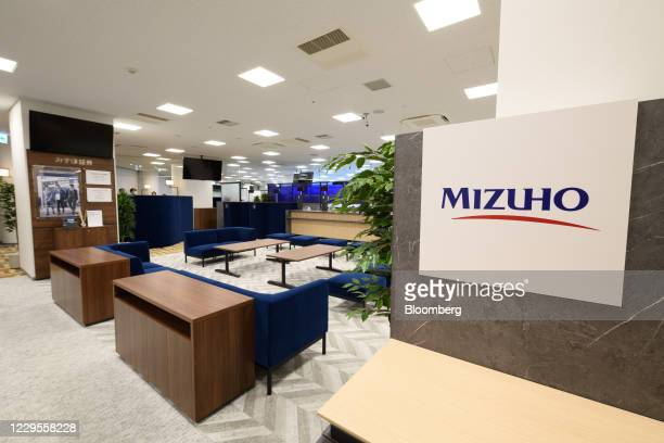 Branch of Mizuho Bank Ltd. During a media event in Kawasaki, Kanagawa Prefecture, Japan, on Monday, Nov. 9, 2020. Japanese banks expect business...