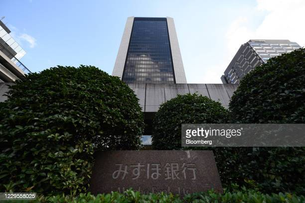 Branch of Mizuho Bank Ltd. In Tokyo, Japan, on Monday, Nov. 9, 2020. Japanese banks expect business opportunities from digitalization, thanks to...