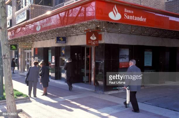 Branch of the Banco Santander in Madrid.