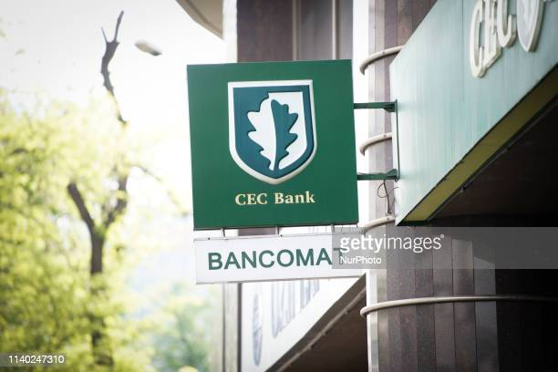 A branch of the CEC Bank is seen in central Bucharest Romania on April 30 2019