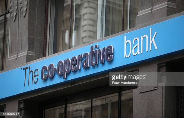 Branch of the Co-operative Bank on April 11, 2014 in London, England. The group's troubles continue as the Co-Op Bank announces a £1.3 billion loss...