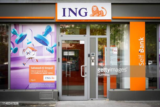 A branch of the ING bank is seen in central Bucharest Romania on April 30 2019