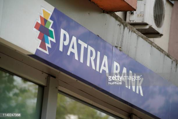 A branch of the Patria Bank is seen in central Bucharest Romania on April 30 2019