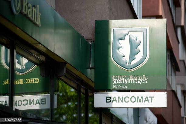 A branch of the Romanian stateowned CEC bank is seen in central Bucharest Romania on April 30 2019