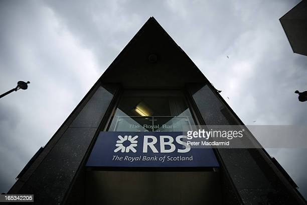 A branch of The Royal Bank of Scotland on April 3 2013 in London England Investors have launched a compensation claim against The Royal Bank of...