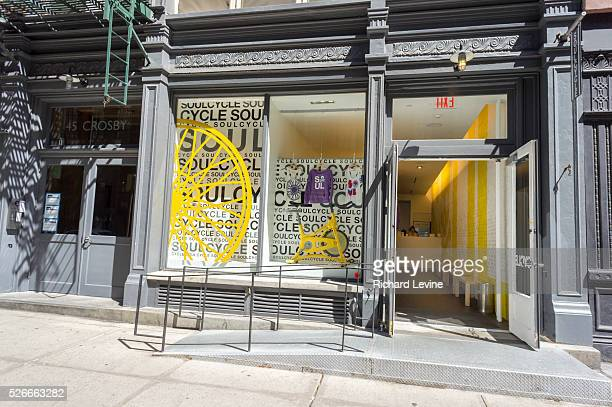 Branch of the widely popular SoulCycle exercise studio in the Soho neighborhood of New York on Sunday, June 7, 2015. A California judge has ruled...