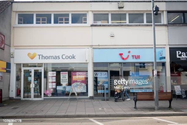 A branch of Thomas Cook travel agents stands on Islington High Street on September 24 2018 in London England Thomas Cook shares fell by 25% after the...