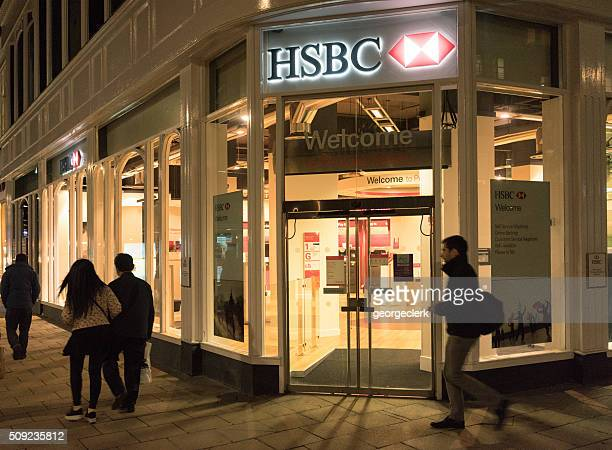 hsbc branch - hsbc stock pictures, royalty-free photos & images