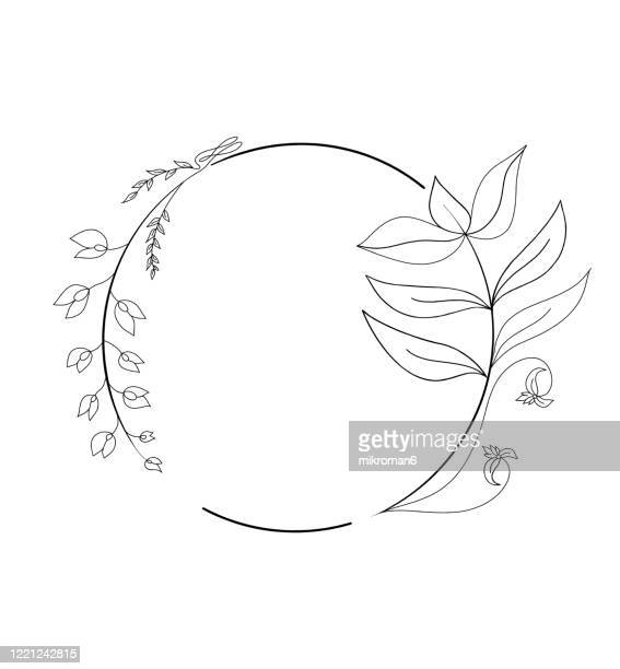 branches and leaves in a circle - logo stock pictures, royalty-free photos & images