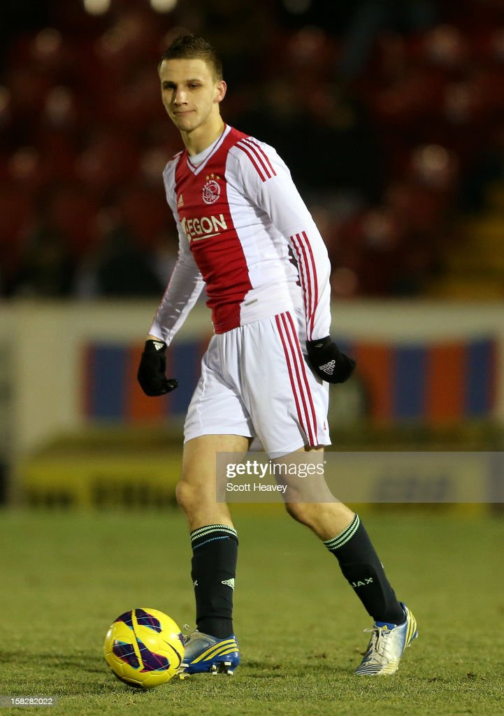 Branco van der Boomen of Ajax in action during the NextGen Series match between Chelsea U19 and Ajax U19 on December 12, 2012 in Aldershot, England.