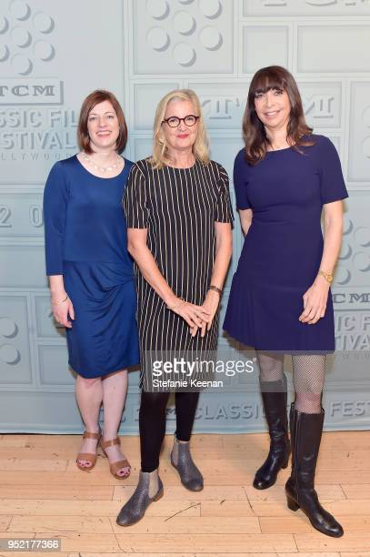 VP Brand Activation Partnership Genevieve McGillicuddy Director Gillian Armstrong and TCM host Illeana Douglas attend the screening of 'My Brilliant...