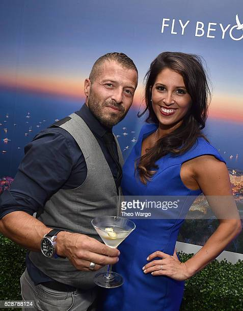 Brand Ambasador Guilloume Jubien and GREY GOOSE spokesmodel at the French Riviera inspired GREY GOOSE Kentucky Oaks After Party at Passalinos on May...