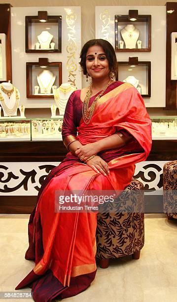 Brand Ambassador and Bollywood actor Vidya Balan at the launch of a new store of Senco Gold and Diamonds at Mega City Mall on July 27 2016 in Gurgaon...