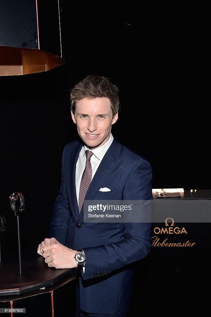 Brand ambassador Eddie Redmayne attends the launch of the Globemaster, the worlds first master chronometer, hosted by OMEGA and brand ambassador Eddie Redmayne at Mack Sennett Studios on March 1, 2016 in Los Angeles, California.