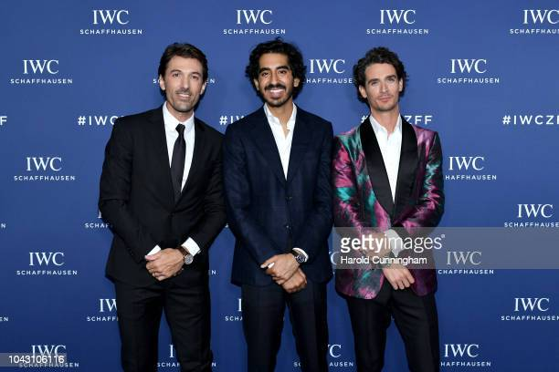 Brand Ambassador Fabian Cancellara, British actor Dev Patel and IWC Brand Ambassador Patrick Seabase attend the IWC Private Dinner at Haute on 29...