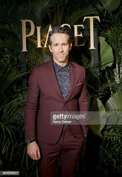 Brand ambassador Ryan Reynolds attends the #Piaget dinner at the Country Club during the #SIHH2018 on January 15 2018 in Geneva Switzerland