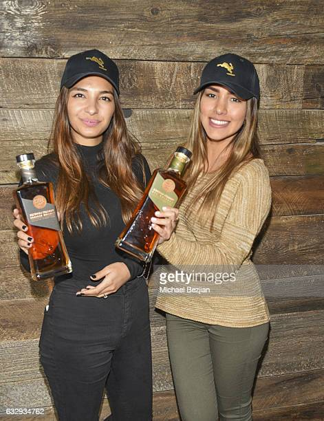 Brand Ambassadors from Rabbit Hole Bourbon Whiskey poses at The Indie Lounge Hosts the Artists Project 'Give Back Portraits' Park City UT 2017 2017...