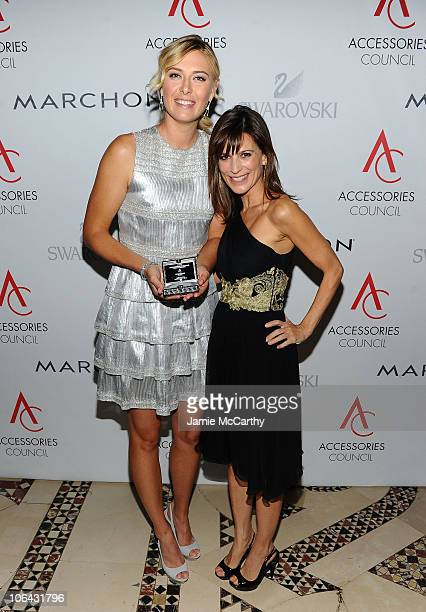 Brand Collaboration award winner Maria Sharapova and actress Perrey Reeves attend the 14th Annual ACE Awards presented by the Accessories Council at...