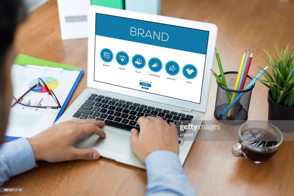Brand Concept : Stock Photo