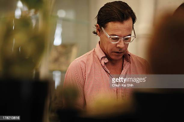 Brand consultant Andy Spade is photographed for GQ Taiwan on September 9 2011 in New York City PUBLISHED IMAGE
