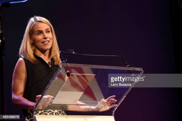 Brand Distribution Turner Broadcasting System and 2014 WICT Woman to Watch award winner Jennifer Mirgorod speaks at the 2014 Women in Cable...