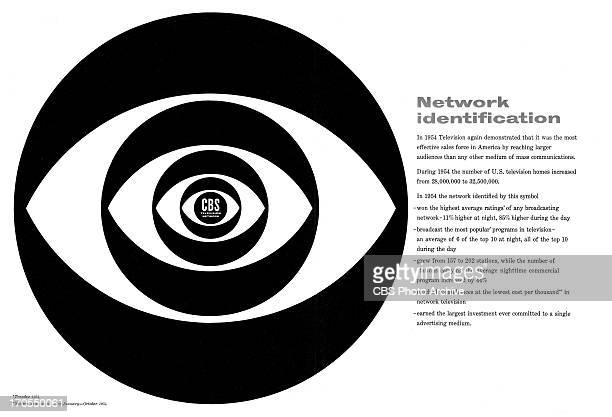 CBS brand identification advertisement attributed to art director and designer William Golden featuring a variation of the CBS EYE logo The ad is...