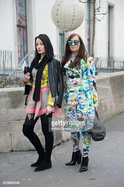 Brand Manager Milda Savickiene and Fashion Designer Agne Kuzmickaite wearing Agnekuzmickaite 'nwith Fashion Designer Agne Kuzmickaite wearing...