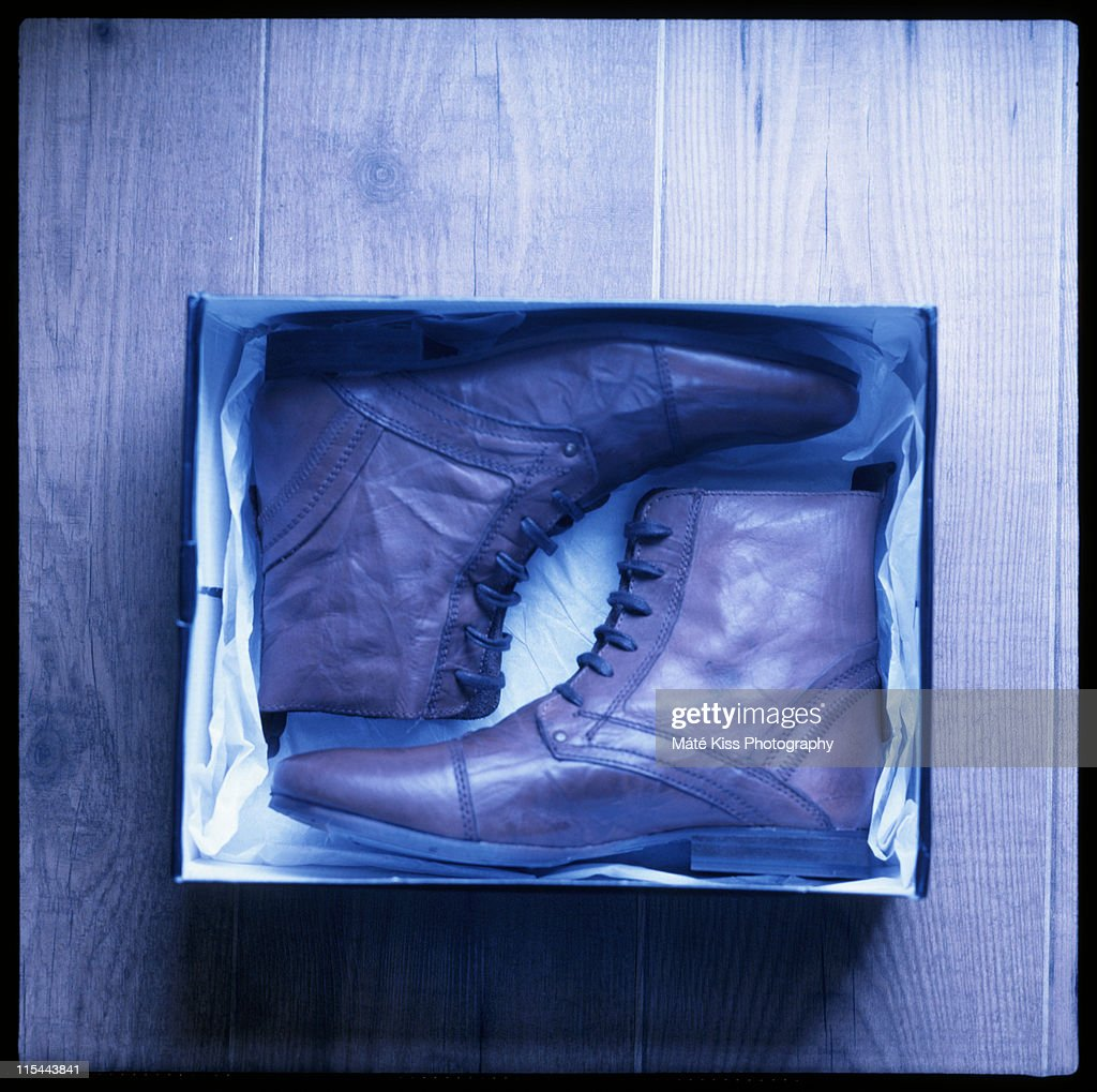 Brand new boots : Stock Photo