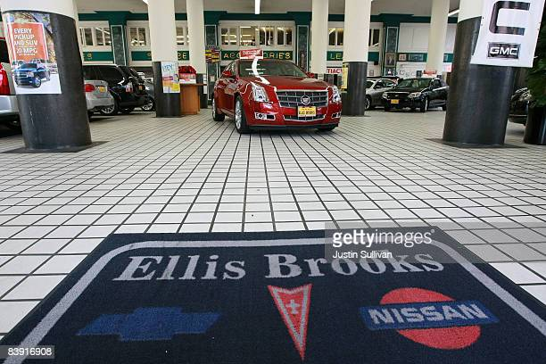 A brand new Cadillac is displayed on the showroom floor at Ellis Brooks Chevrolet December 4 2008 in San Francisco California The fate of car...