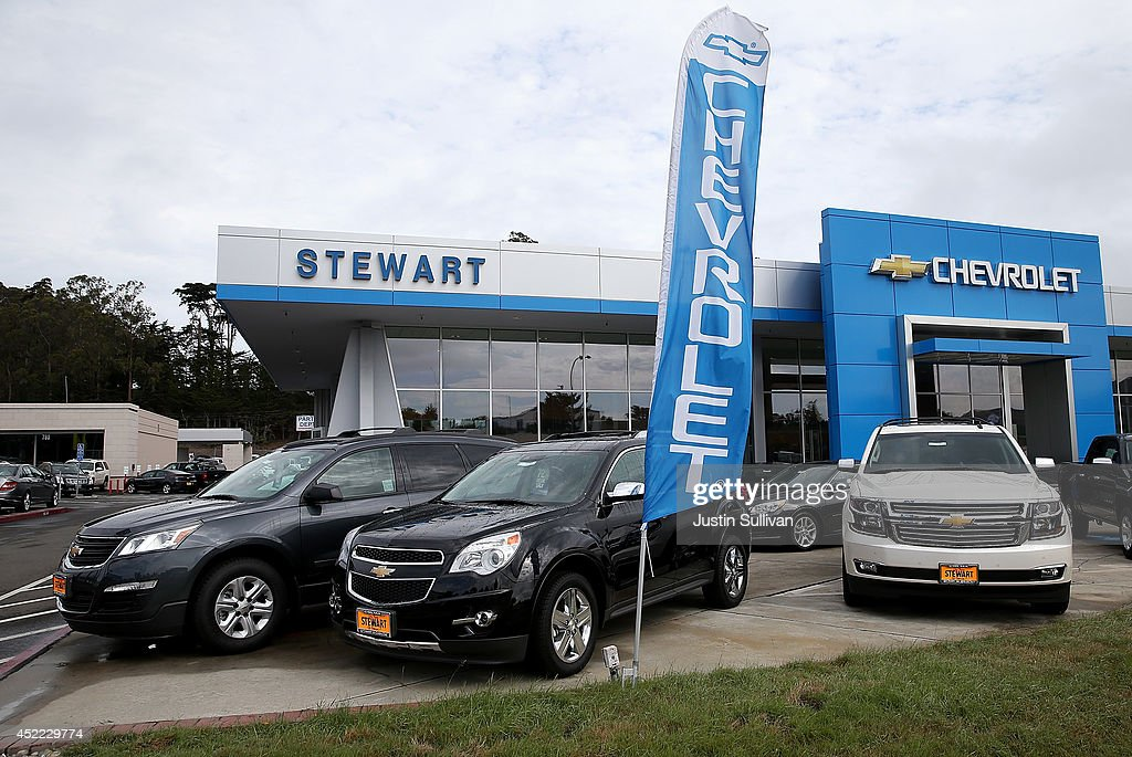 Brand new Chevrolet SUVs and crossover vehicles are displayed at Stewart Chevrolet on July 16, 2014 in Colma, California. According to a report by IHS Automotive, new registrations on SUVs and crossover vehicles surpassed sedans for the first time with SUVs and crossovers taking 36.5 percent of registrations while sedans registered 35.4 percent.