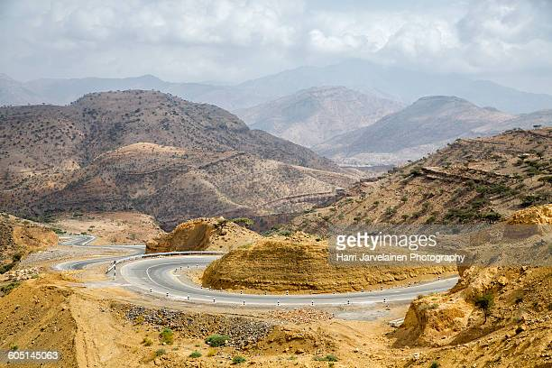 Brand new Chinese built roads in Ethiopia