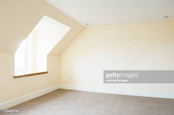 brand new empty bedroom - wainscoting stock photos and pictures