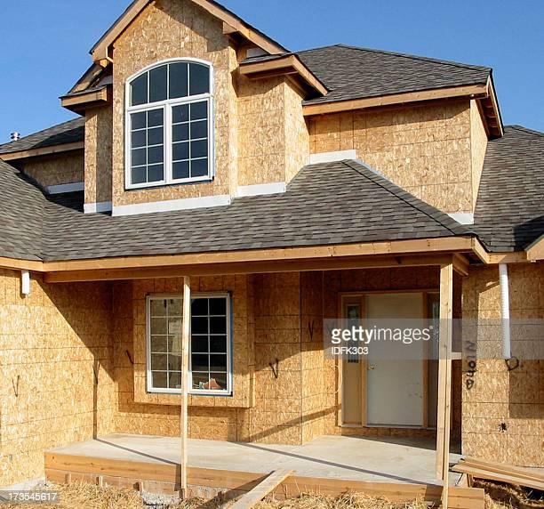 A brand new house still under construction