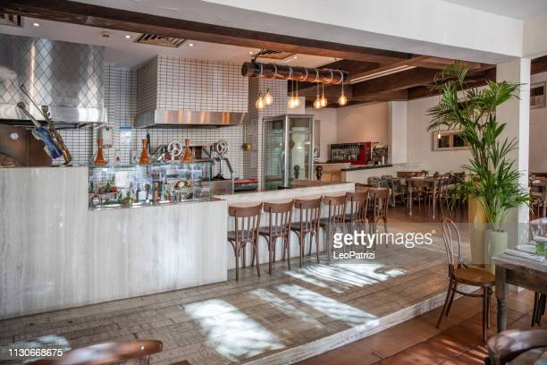 brand new italian gourmet restaurant - pizzeria stock pictures, royalty-free photos & images