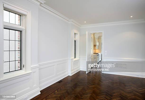 brand new north american home - wainscoting stock photos and pictures