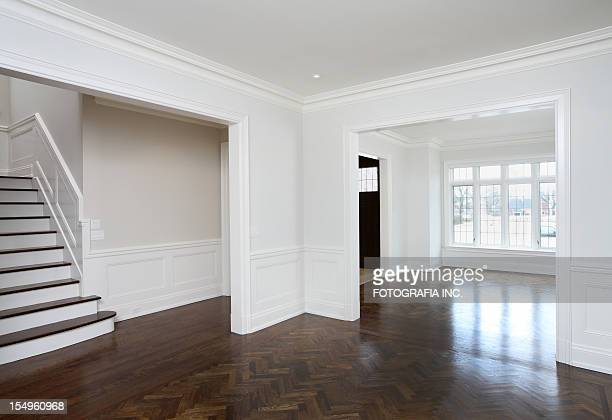 brand new north american home - architectural cornice stock photos and pictures