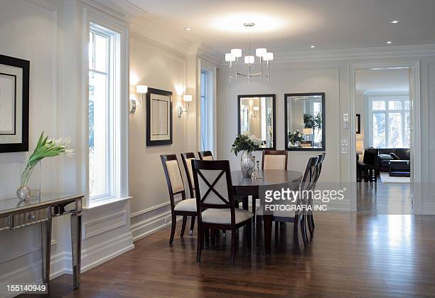 brand new north american home - dining room stock pictures, royalty-free photos & images