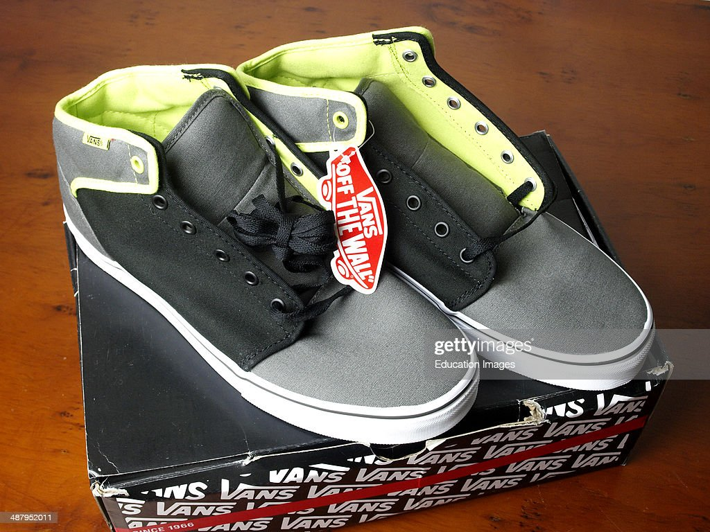 5f96d1e822d211 Brand new pair of Vans shoes on box   News Photo