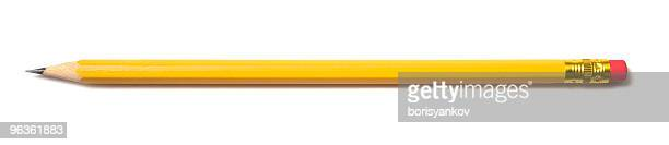 brand new pencil - yellow stock pictures, royalty-free photos & images