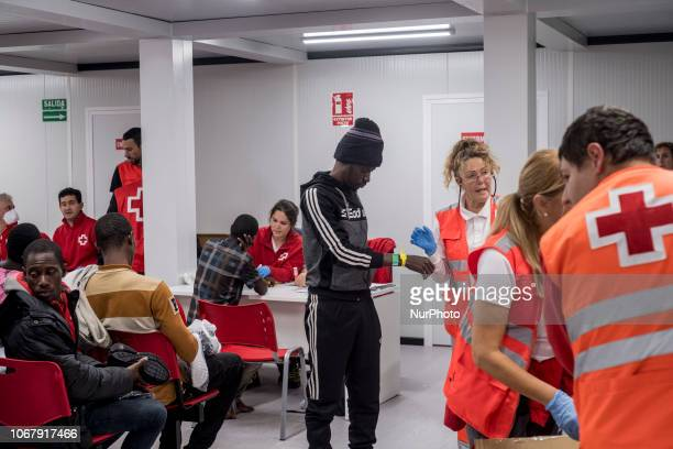 Brand new REd cross Care units to attended the rescued migrants at the Malaga port on November 28 Malaga