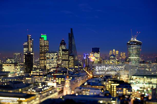 Brand new skyline of City of London