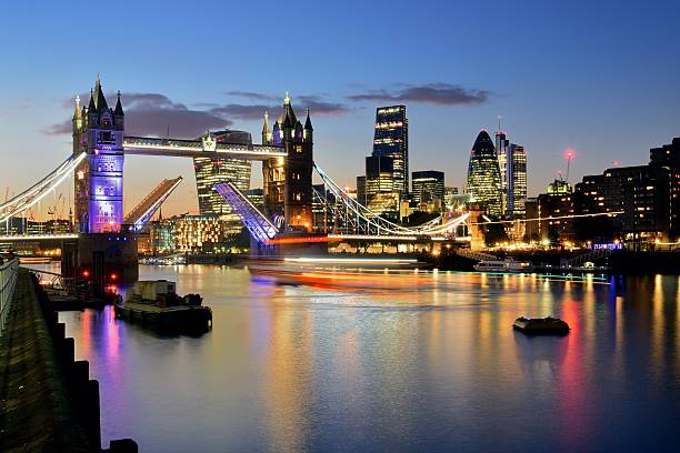 Brand New Skyline Of London At Sunset Wall Art